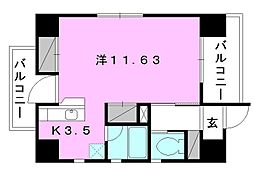 スリースターズマンション[601 号室号室]の間取り