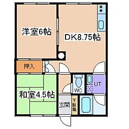 川村ハイツ1[C-1号室]の間取り
