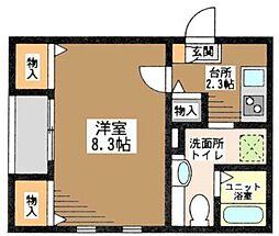 東京都葛飾区高砂4丁目の賃貸アパートの間取り