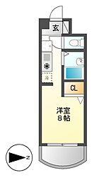 愛知県尾張旭市東名西町1の賃貸マンションの間取り