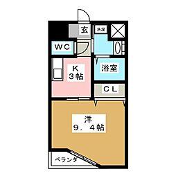 ルラシオン江戸橋[1階]の間取り