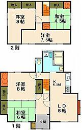 [一戸建] 北海道小樽市潮見台2丁目 の賃貸【北海道 / 小樽市】の間取り