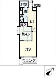 新日豊明マンション[1階]の間取り
