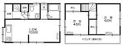 [一戸建] 千葉県松戸市古ケ崎3丁目 の賃貸【/】の間取り