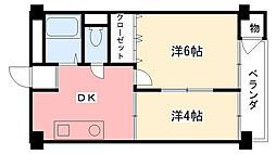 新甲子園マンション[308号室]の間取り