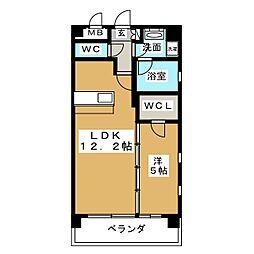 Felice Izumi[11階]の間取り