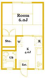 エステ−トピアグレース[2階]の間取り