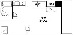 大阪府大阪市浪速区元町1丁目の賃貸マンションの間取り
