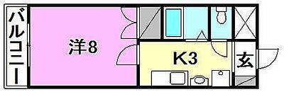 間取り,1K,面積25.8m2,賃料3.3万円,伊予鉄道横河原線 横河原駅 徒歩13分,伊予鉄道松山駅前線 道後公園駅 15.6km,愛媛県東温市北方