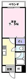 エクセル富士見マンション[203号室]の間取り
