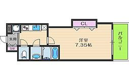 Luxe天神橋[15階]の間取り