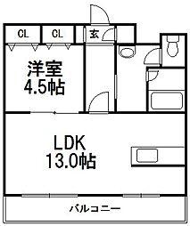 ノーザンコート[6階]の間取り