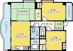 第七泰平ビル[301号室]の間取り