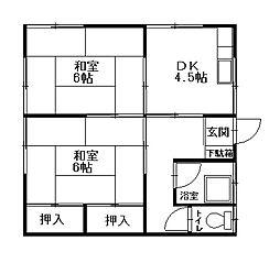 勝荘[2階]の間取り