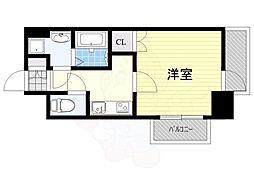 JR鹿児島本線 箱崎駅 徒歩3分の賃貸マンション 12階1Kの間取り