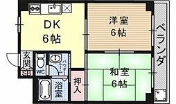 第16洛西ハイツ瀬田[602号室号室]の間取り