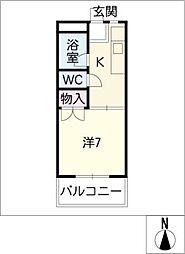 コーポ江ノ島[2階]の間取り
