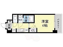 Osaka Metro谷町線 野江内代駅 徒歩8分の賃貸マンション 11階1Kの間取り