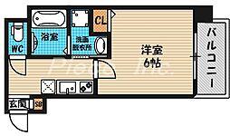 大阪府大阪市北区天神橋3の賃貸マンションの間取り