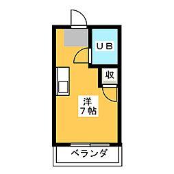 メゾンド アミ[1階]の間取り