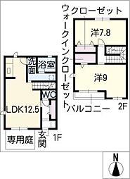[タウンハウス] 愛知県小牧市大字上末 の賃貸【/】の間取り