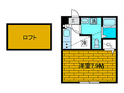 神奈川県相模原市南区鵜野森2丁目の賃貸アパートの間取り