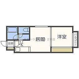 ルナハイツ札幌[2階]の間取り