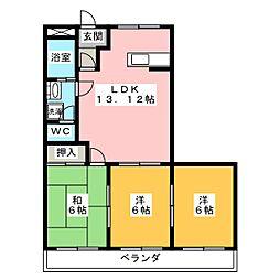 BigWAVE生川[3階]の間取り
