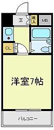 ヴェルデ阿倍野[8階]の間取り