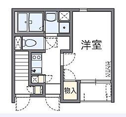 東京都台東区東浅草2丁目の賃貸アパートの間取り