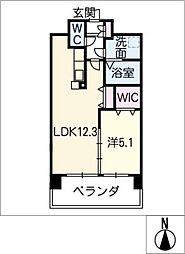 アンジュー VI[2階]の間取り