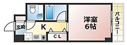 クレール六甲[5階]の間取り