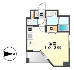 GRANDUKE東別院crea(クレア)[9階]の間取り