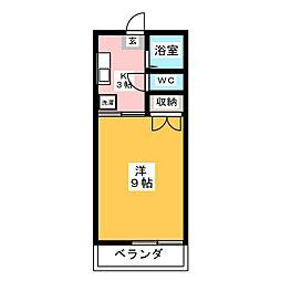 コア・キクヤB[2階]の間取り