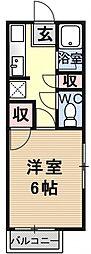 ハイツ澤田[107号室号室]の間取り