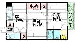 第2末広マンション[4階]の間取り