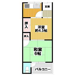 田阪文化[1階]の間取り