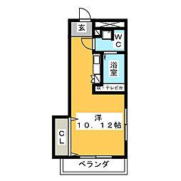 パレスパルミエA[1階]の間取り