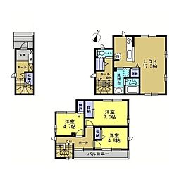 仮)中原区上小田中六丁目新築計画[2階]の間取り