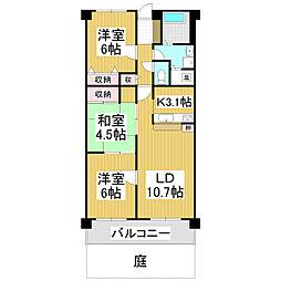 ハミング松本 101[1階]の間取り