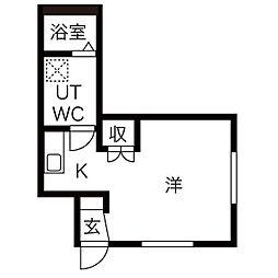 グリュック鳴海[1階]の間取り