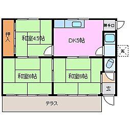 [一戸建] 三重県桑名市高塚町6丁目 の賃貸【/】の間取り