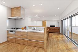 新築やリノベーション済みマンションのように、既に出来上がったものではなく、住まいをもっと自分らしくデザインしたい。そんなお客様のご要望にお応えするのがオーダーリノベ。完成イメージパースです。