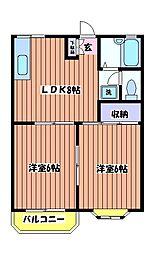 シャンボール高松[2階]の間取り