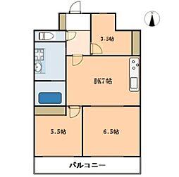 ジュウエル城西[8F号室]の間取り