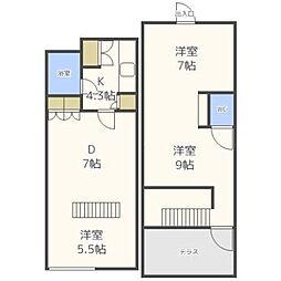 Site01宮ヶ丘[4階]の間取り