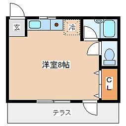 兵庫県神戸市長田区房王寺町7丁目の賃貸アパートの間取り