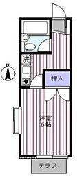 メゾンホリ[1階]の間取り