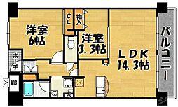 オークランドアサート小倉[4階]の間取り