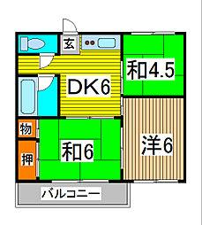 三崎コーポ[1階]の間取り